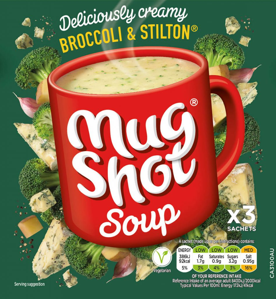 Symingtons - 'Mug Shot' soup - Broccoli & Stilton