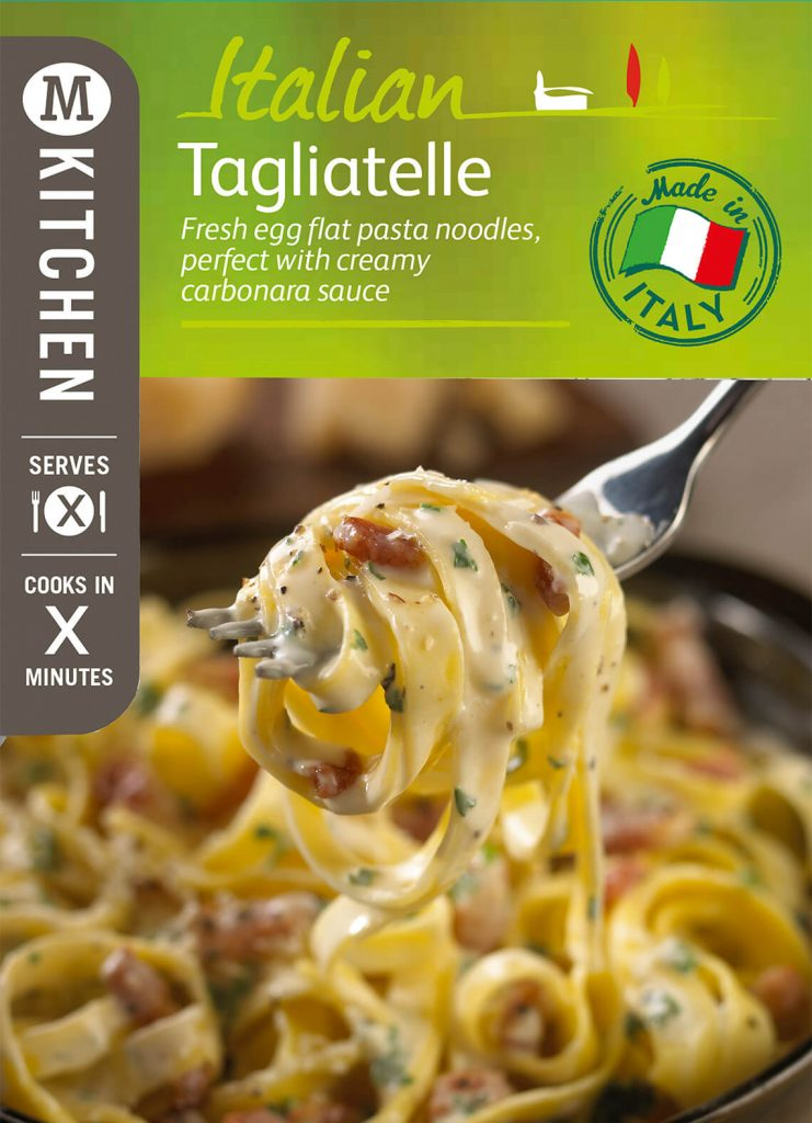 tagliatelle packaging