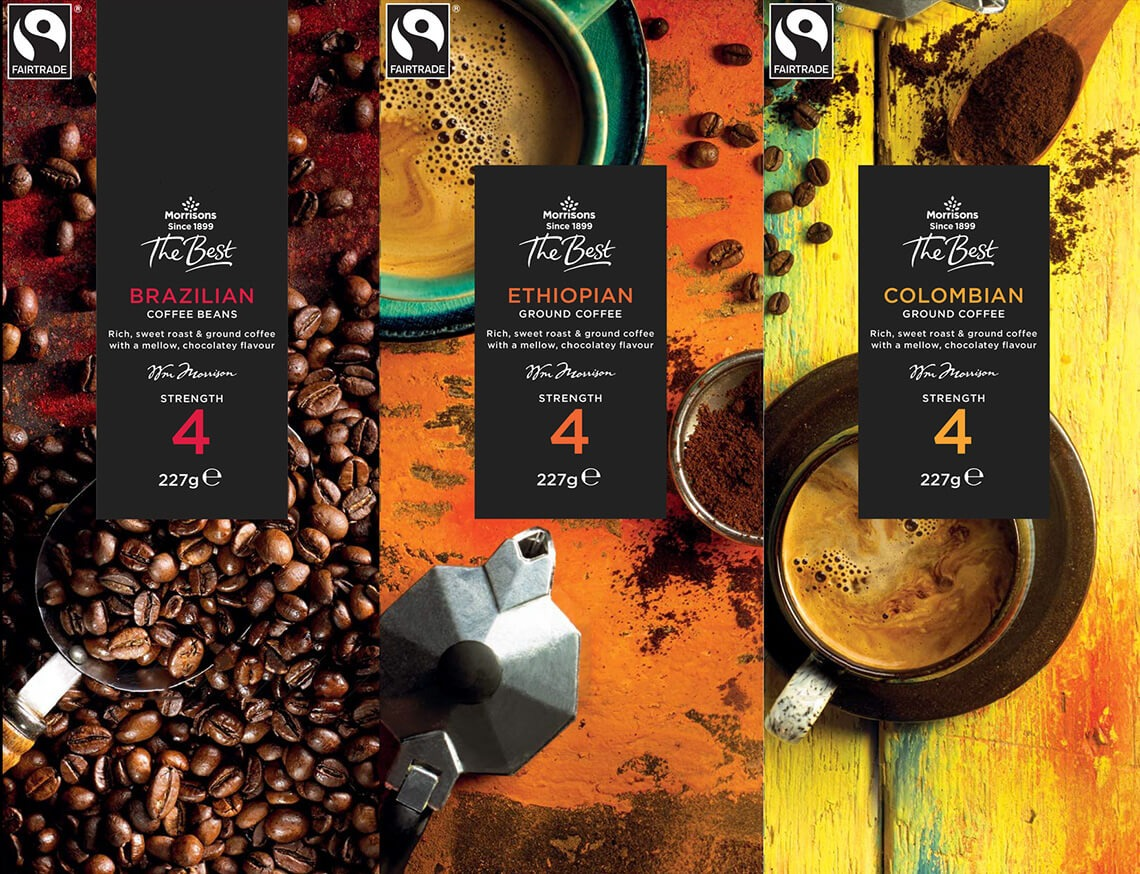 Morrisons - 'The Best' coffee packaging range