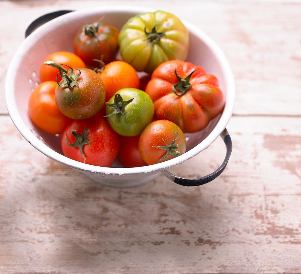 luscious fresh tomatoes